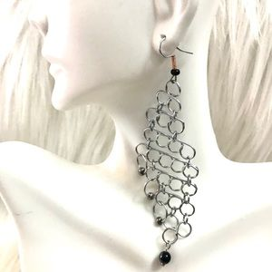 Metal mesh earrings